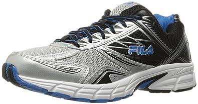 4d5217e7046 Fila Men s Royalty 2 Running Shoe Metallic Silver Black Electric Blue 11.5  ...