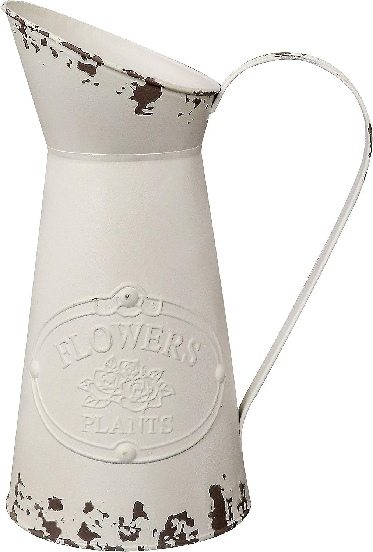 Soyizom French Vintage Style Vase Galvanized Tin Primitive Vase Flower Pitcher Large Metal Vase Country Rustic Vase Farmhouse Milk Jug Decorative Flower in Vases for Kitchen Bathroom Wedding Decor-11