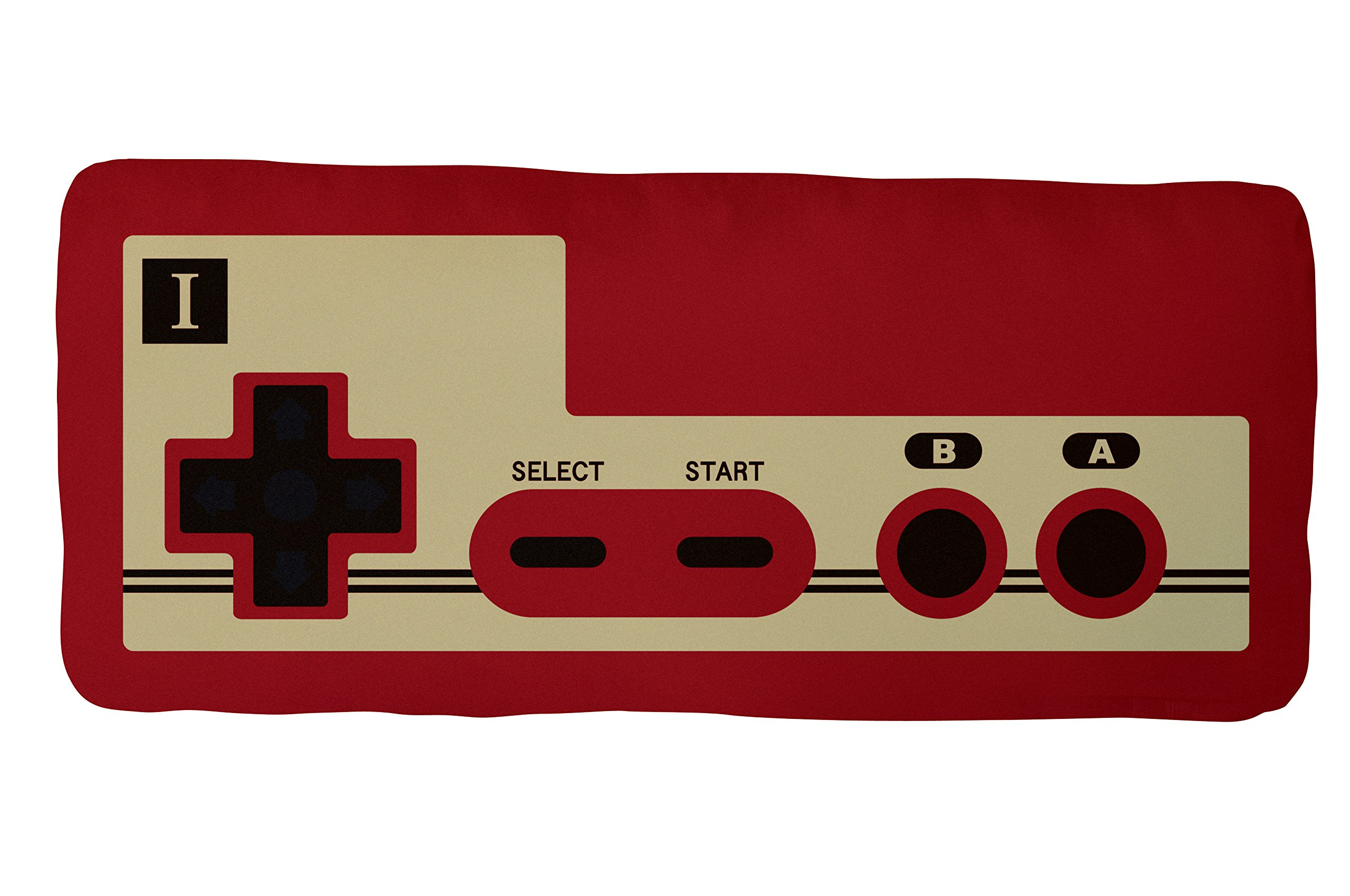 Little Buddy Super Mario 30th Anniversary Retro FC30 Game Controller Plush Pillow, 19''