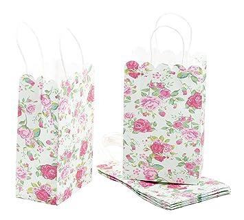 Amazon.com: Bolsa de regalo de papel – 24 unidades Vintage ...