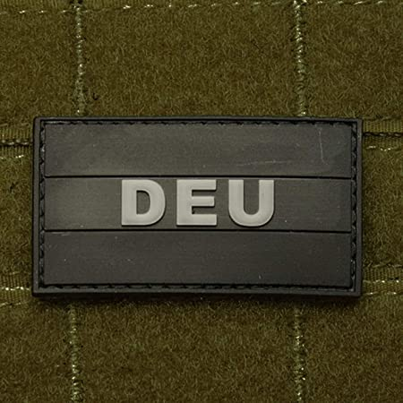Parche de goma 3D KSK de bandera ISAF alemana con velcro (3 x 5,5 cm): Amazon.es: Hogar