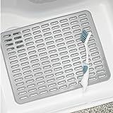 mDesign Modern Kitchen Sink Dish Drying Mat/Grid