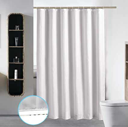 Stall Shower Curtain Liner For Bathroom Washable Fabric Waterproof Cloth Mildew Resistant Polyester Best Small