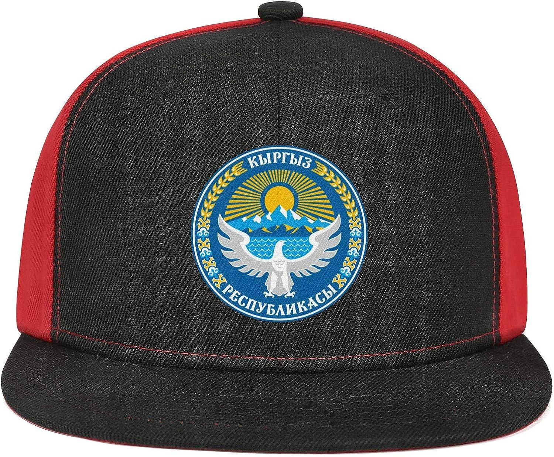 WCAO Kyrgyzstan Emblem Eagle Sun Water Baseball Caps Flatbrim Basketball Cap Street Dancing Twill Hats