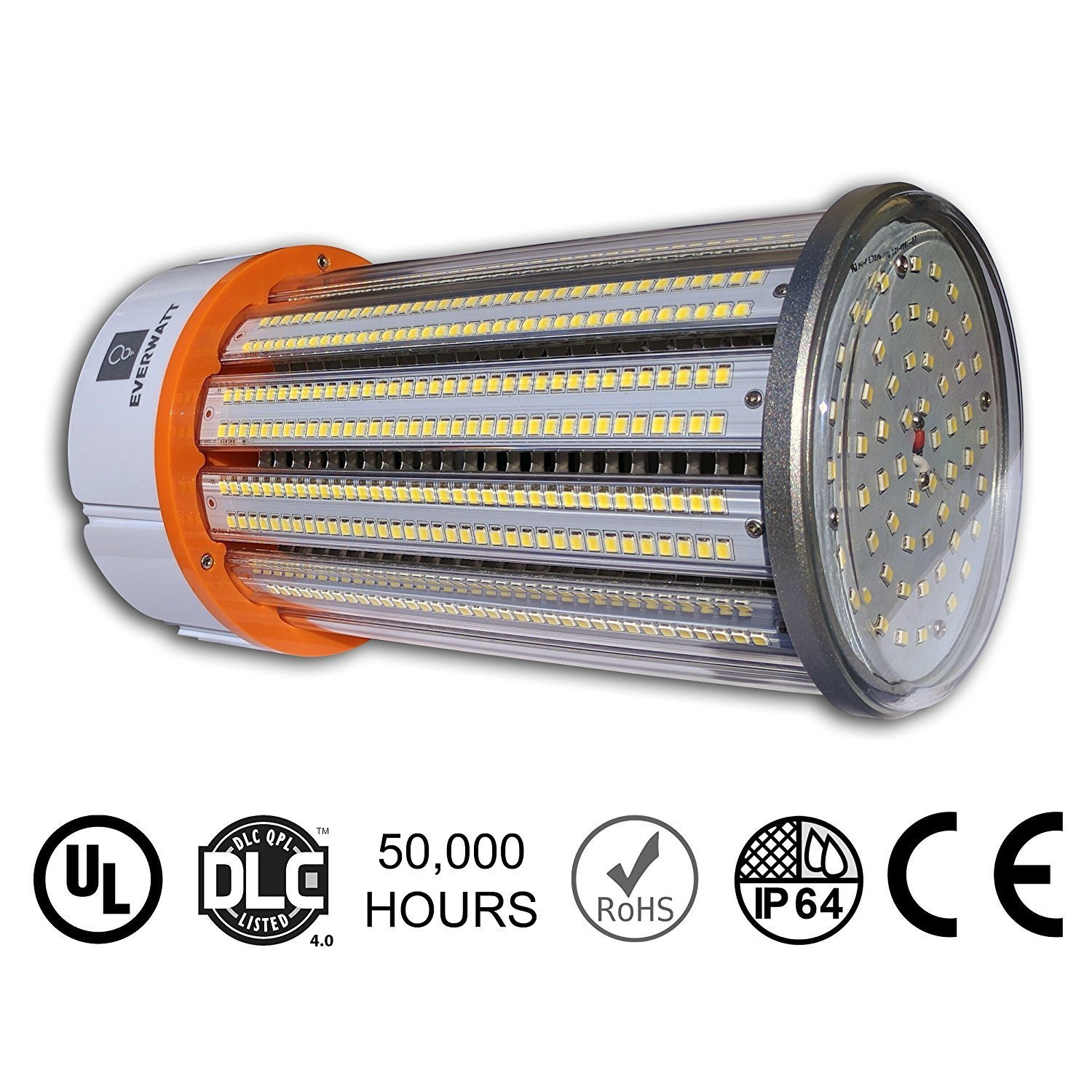 150W LED Corn Light Bulb, Large Mogul E39 Base, 21892 Lumens, 4000K, Replacement for 800W to 1000W Equivalent Metal Halide Bulb, HID, CFL, HPS by EverWatt