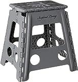 "Inspired Living Step Heavy Duty folding-stools, 16"" High, DARK GREY"