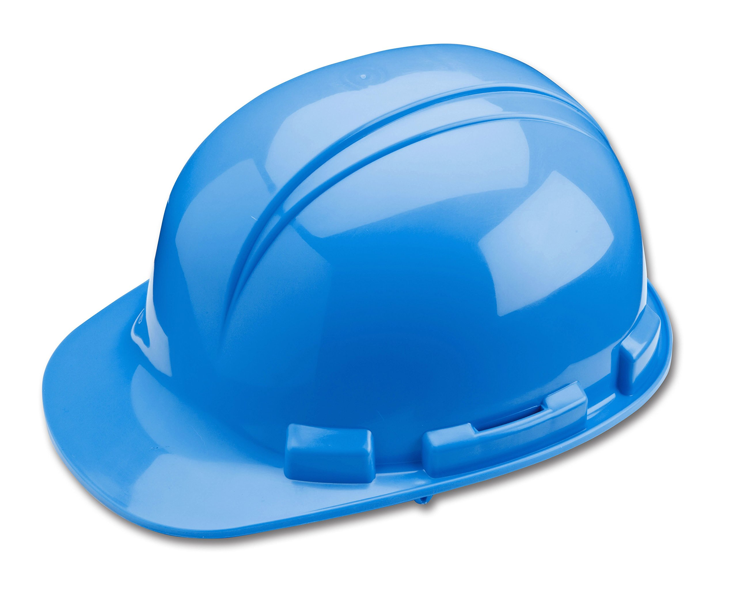 Dynamic Safety HP221R/07 Whistler Hard Hat with 4-Point Plastic Suspension and Sure-Lock Ratchet Adjustment, ANSI Type I, Sky Blue by Dynamic Safety (Image #1)