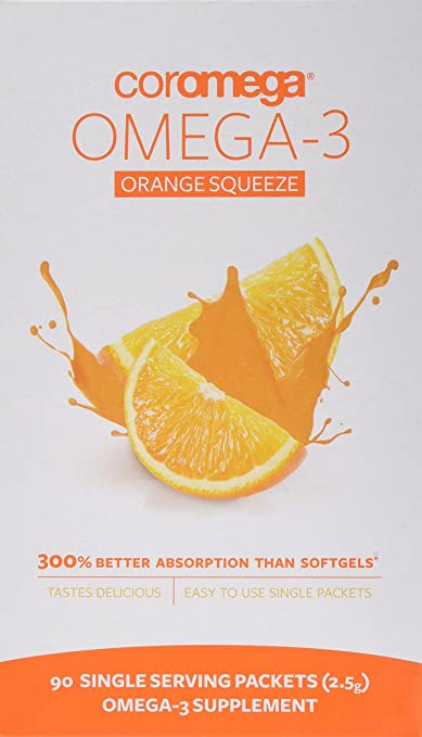 Product thumbnail for Coromega Omega-3 Orange Squeeze