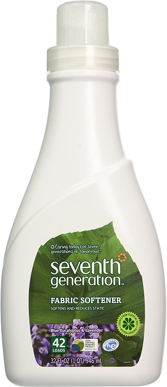 Seventh Generation Fabric Softener, Lavender, 32 Fluid Ounce (Pack of 2)