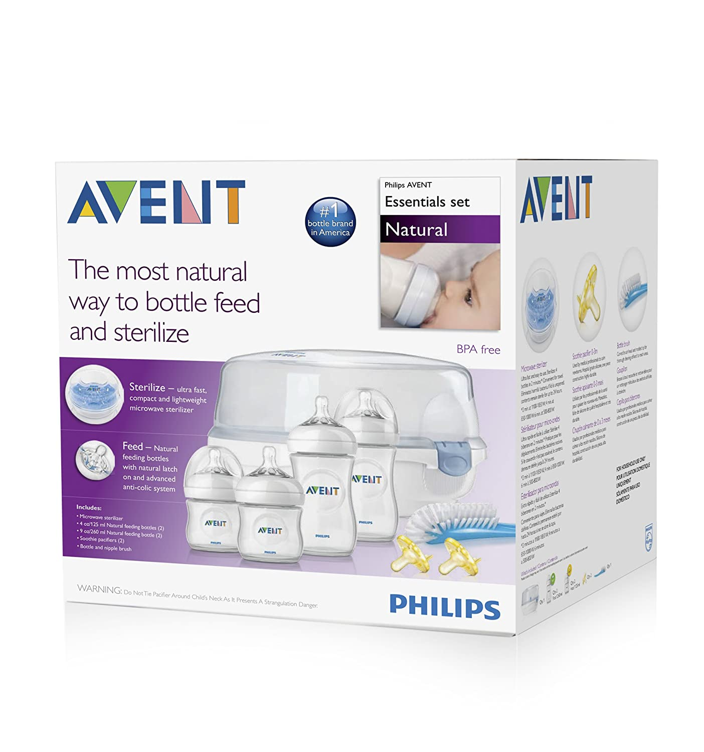 Amazon.com : Philips Avent Natural Essentials Baby Bottle Gift Set ...