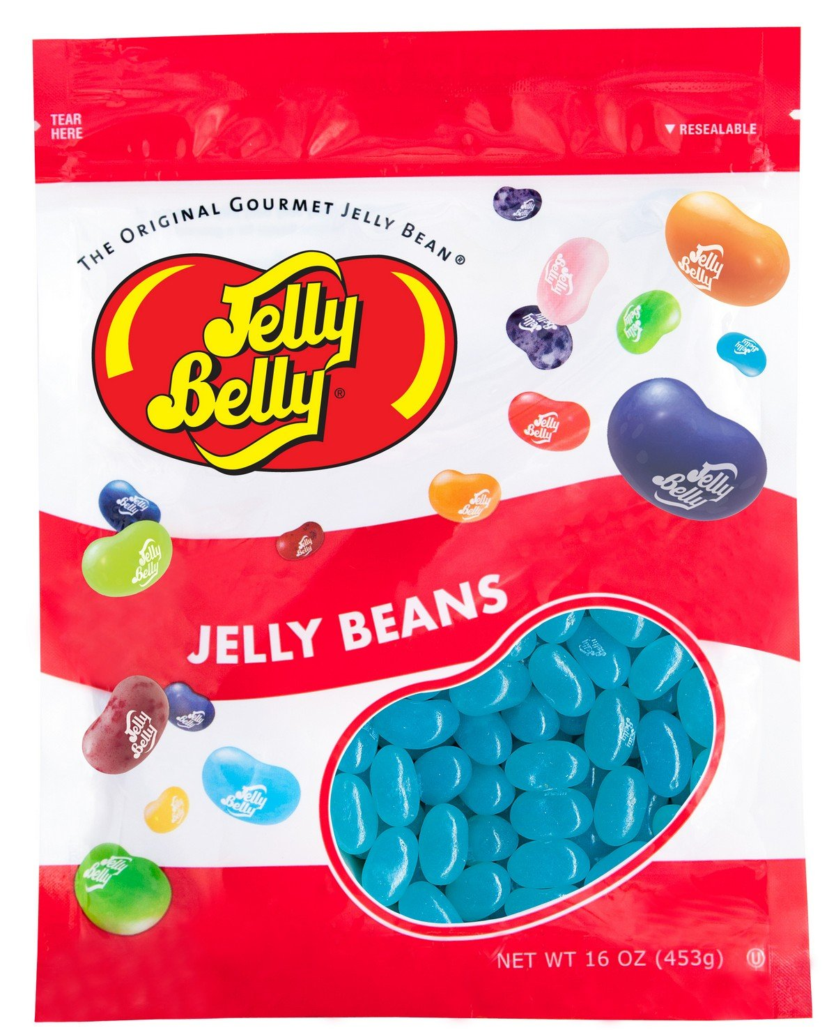 Jelly Belly Berry Blue Jelly Beans - 1 Pound (16 Ounces) Resealable Bag - Genuine, Official, Straight from the Source