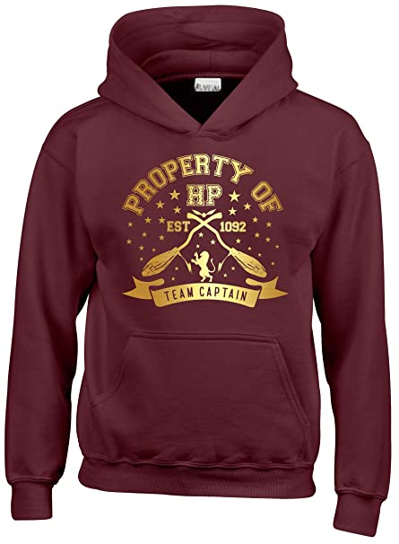 4ab4f33f1 Gryffindor Hoodie Quidditch Team Captain Kids, Mens & Women Harry Potter  Hooded Top. MAROON L = 9-11 Years: Amazon.co.uk: Clothing