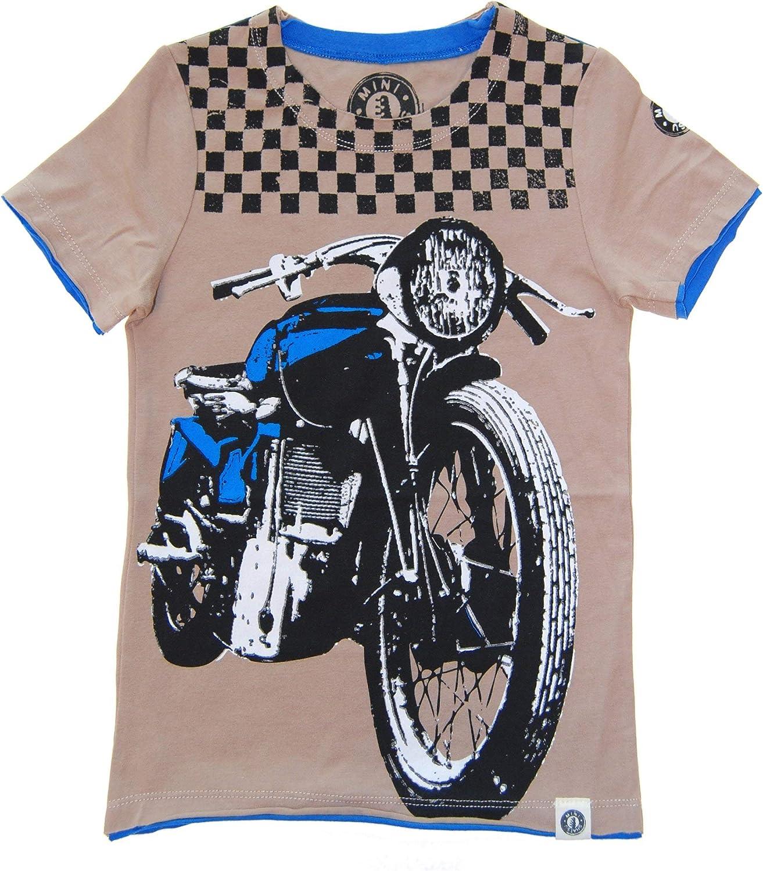 Mini Shatsu Checker Biker T-Shirt