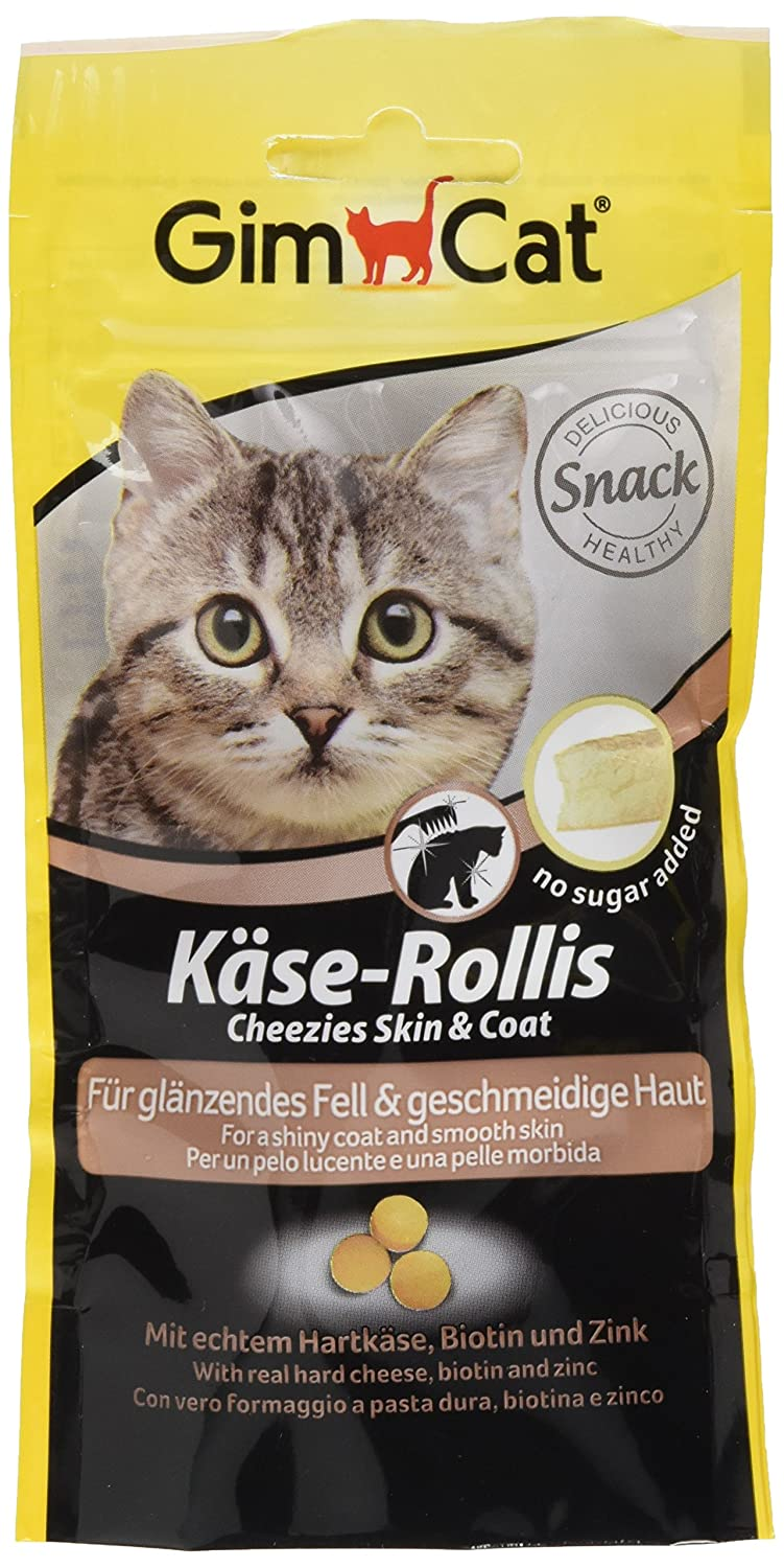 GimCat Queso de rollis Skin and coat, 3 Pack (3 x 40 g): Amazon.es: Productos para mascotas