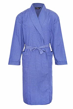 e0cd02b966b Champion Mens Dressing Gown Checkered Bath Robe Poly Cotton  Amazon.co.uk   Clothing