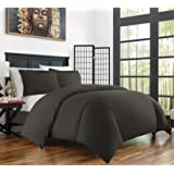 Zen Bamboo Ultra Soft 3-Piece Bamboo Derived Rayon Duvet Cover Set -Hypoallergenic and Wrinkle Resistant - King/Cal King - Gray