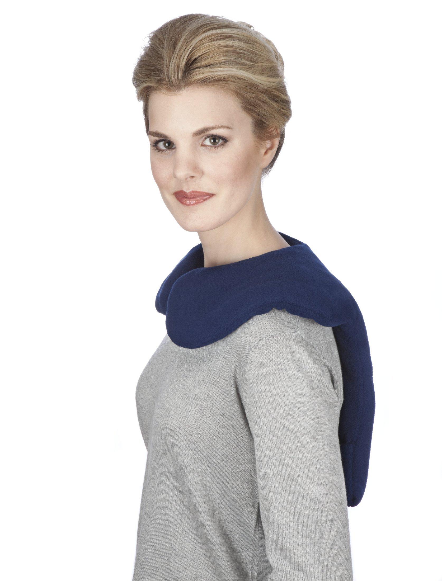 Sunny Bay Lavender-scented Shoulder and Upper Back Heat Wrap, Large, Navy blue (navy blue) by Sunny Bay (Image #7)