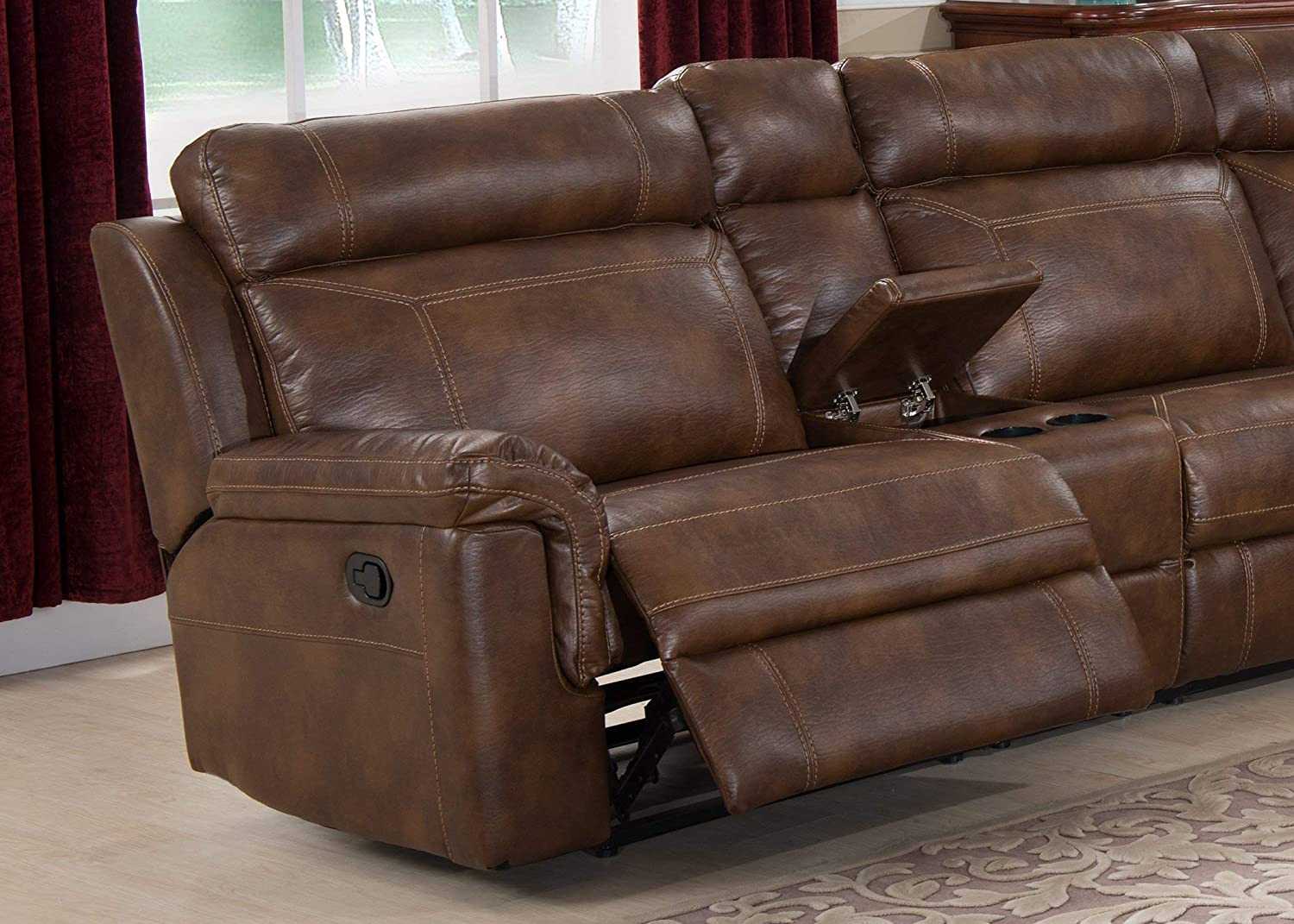 Amazon.com: Christies Home Living 6-Piece Reclining salón ...
