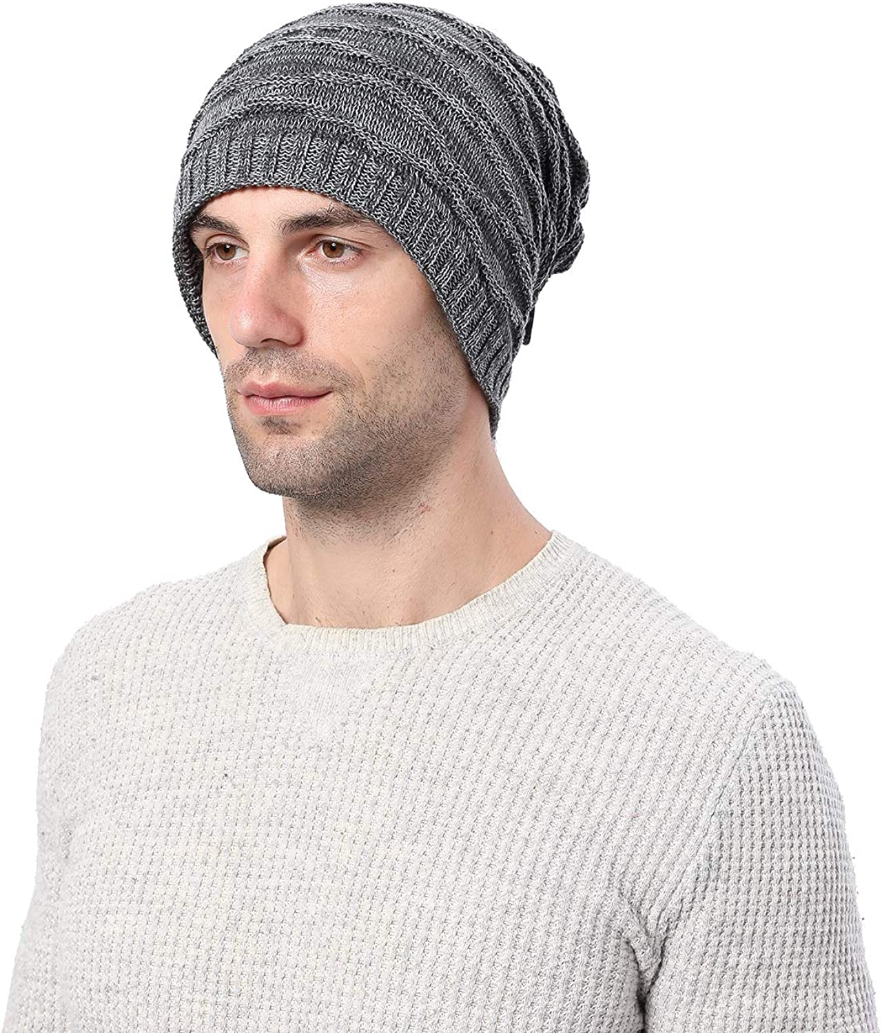Winter Warmer Men Women Snood Scarf Ski Balaclava Neck Face  Beanie Hat Grey