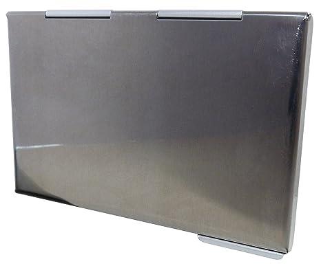Tarjetera Moderna de Aluminio para Tarjetas de Visita, de Crédito, Bancarias - Plateada: Amazon.es: Hogar