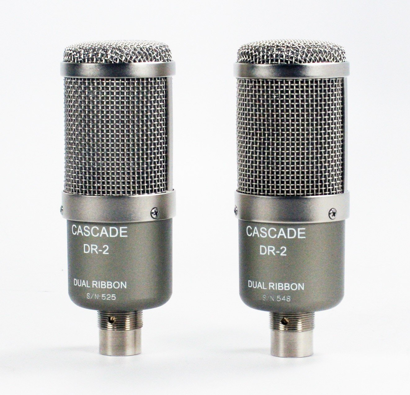 Cascade Microphones DR-2 Dual Ribbon Stereo Pair - Grey Body/Anodized Silver Grill,