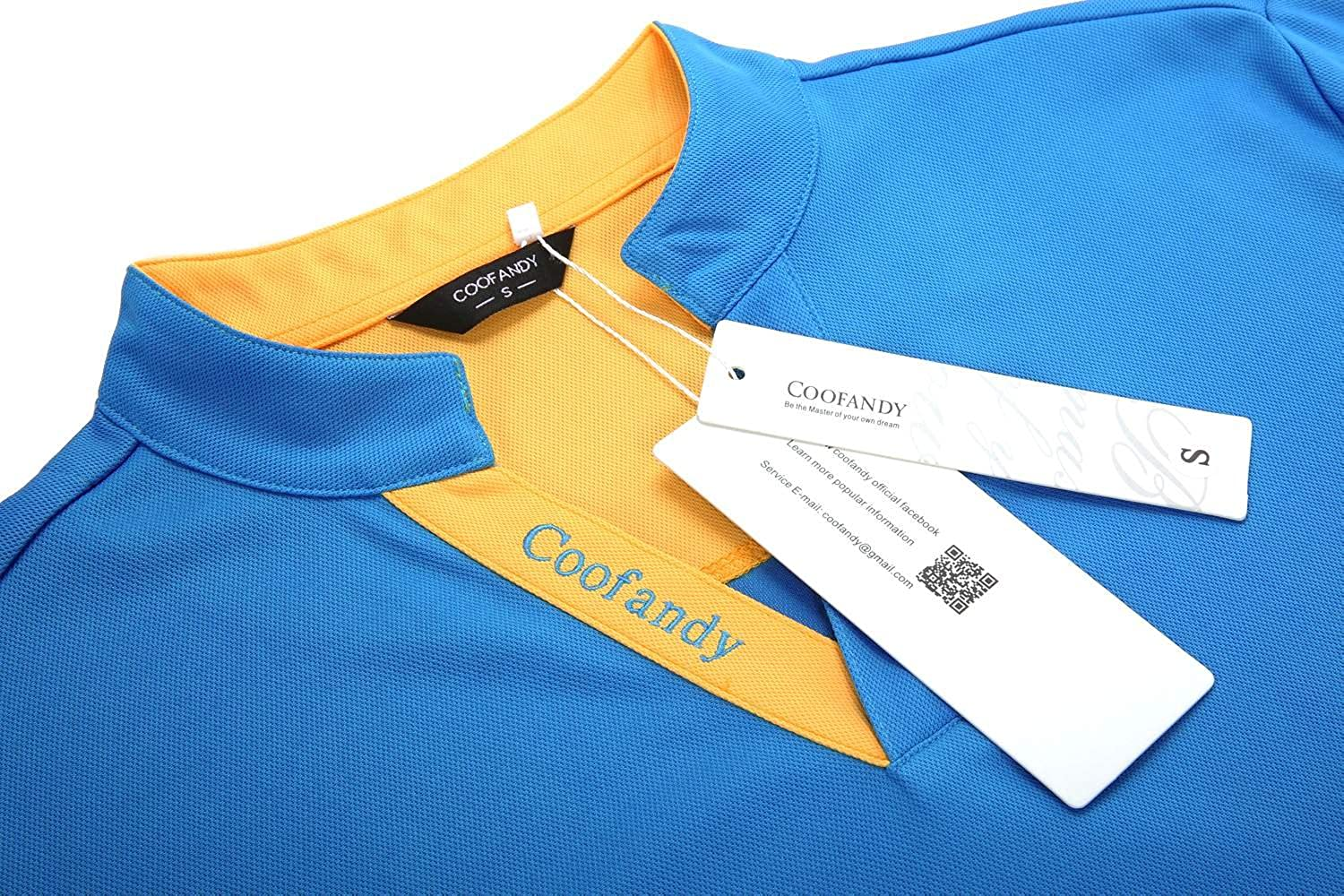 COOFANDY Mens Short Sleeve Polo Shirts Slim Fit Casual Contrast T Shirt