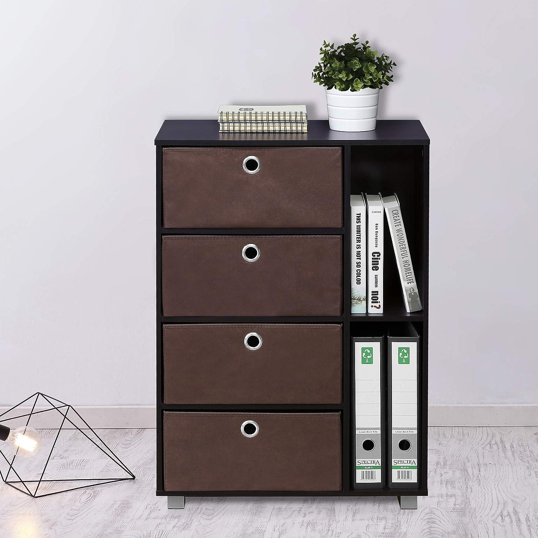 Furinno 11159GYW//BK Multipurpose Storage Cabinet French Oak Grey//Black