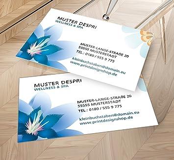 Visitenkarten Online Gestalten Despri Design Vk030 Einseitig Wellness Spa 100 Stück