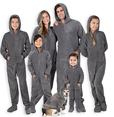 Footed Pajamas - Howling Moon Adult Hoodie Chenille Onesie - Small 2X Dbl  Wide f50821d9e