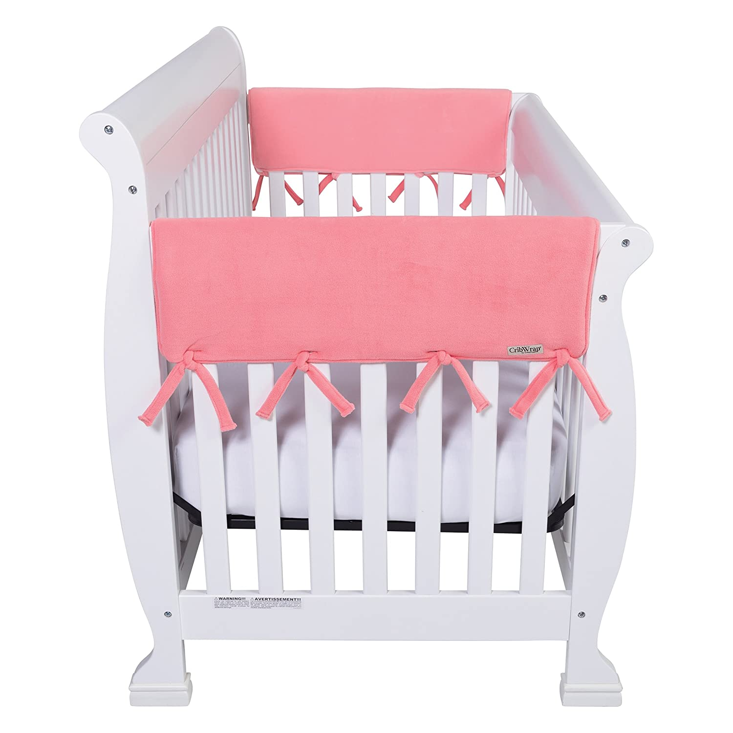 Trend Lab Waterproof CribWrap Rail Cover For Wide Side Crib Rails Made to Fit Rails up to 18 Around 2PK