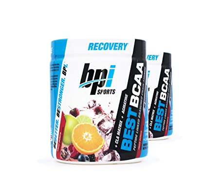 BPI Sports Best BCAA Peptide Linked Branched Chain Amino Energy Powder, 10.58oz, Pack of Two 30 Servings Fruit Punch 2 x 30svg