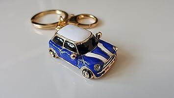 Mini Style Car Keyring Gift Blue Red Rhinestone Detail Blue