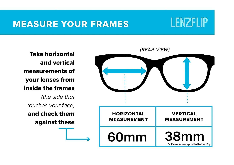LenzFlip Lentes compatibles con cigüeñal Oakley para hombre 61 mm ...