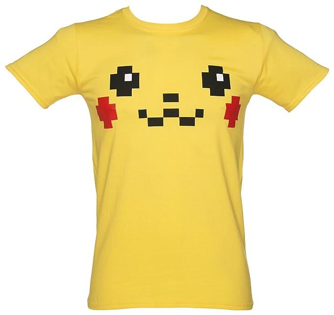 TruffleShuffle Camiseta de los hombres Pikachu cara traje ...