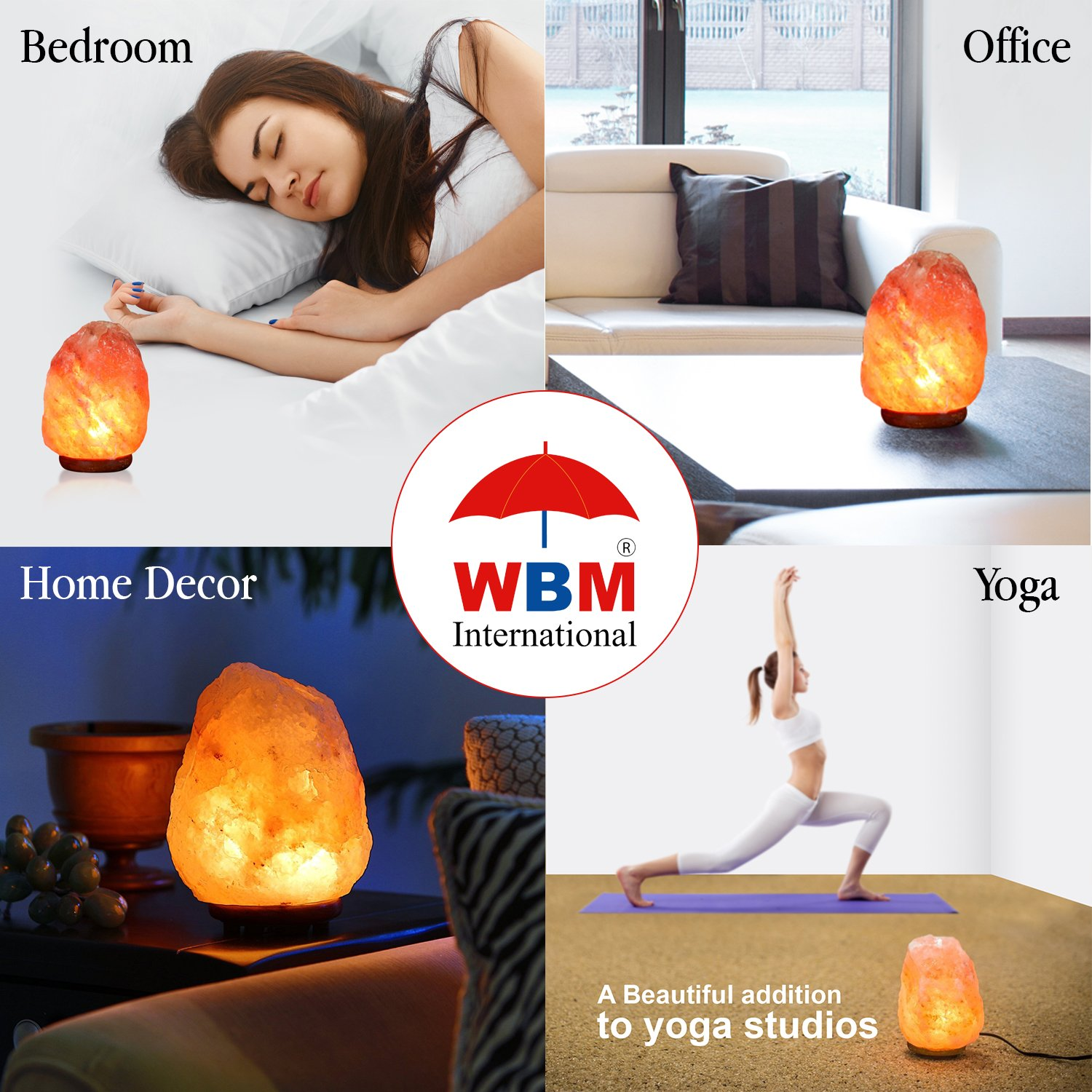 Himalayan Glow Salt Lamp, 1003 Extra large himalayan salt lamp, Dimmable Floor lamp with Neem Wooden base   11 to 15 lbs by WBM by Himalayan Glow (Image #11)