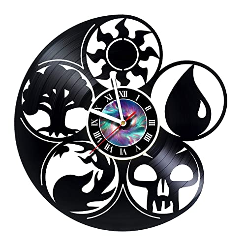 KravchArt Magic The Gathering – Vinyl Record Wall Clock Decor Handmade Unique Design Original Gift – Leave a Feedback and Win a Clock