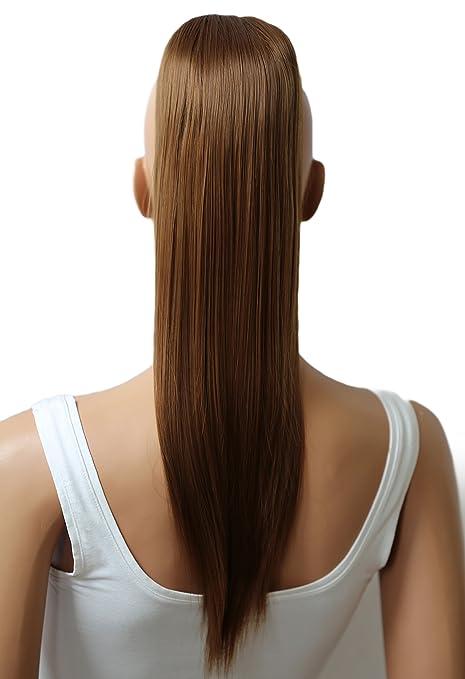 PRETTYSHOP Voluminosa liso peluca peluca trenza cola de caballo Cola de caballo fibra sintética 50cm refractario