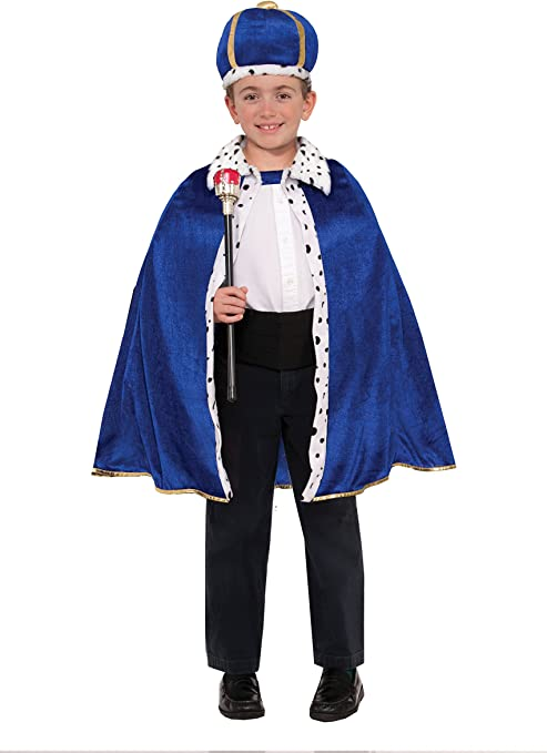 Forum Novelties 78063 King Robe and Crown Set, Standard, Blue