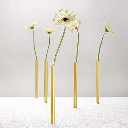 Amazon Peleg Design Magnetic Vase Set Of 5 Golden Aluminium