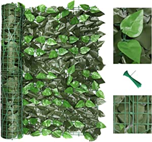 "120"" x 40"" Artificial Ivy Privacy Fence Screen, Privacy Wall, Privacy Screen, Artificial Faux Ivy Hedge Leaf & Vine Privacy Fence Wall Screen, Decoration for Outdoor Decor, Garden, Yard (Peach Leaf)"
