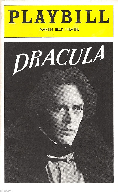Raul Julia \'DRACULA\' Edward Gorey / Jerome Dempsey / Bram Stoker 1979 Playbill