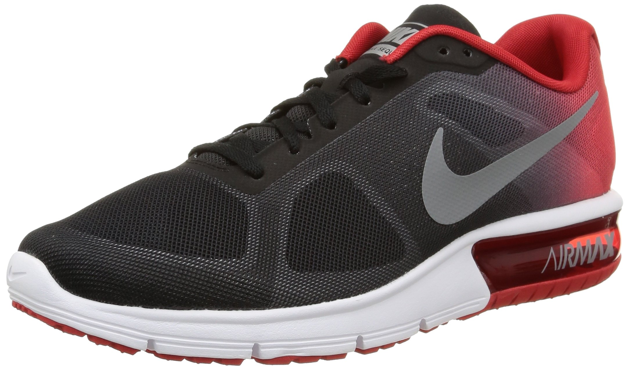 newest 252f5 33c2d Galleon - Nike Men s Air Max Sequent Running Shoe Black University Red Cool  Grey Size 8 M US