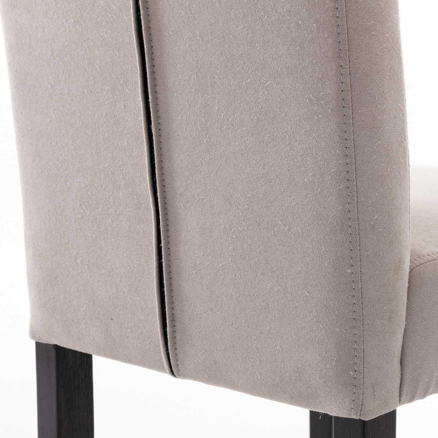 DininL Fur Dining Chair Kitchen Chairs Set of 2 Modern Dining Room Side Chairs Fabric Cushion Seat Back (Light Gery) - Chairs