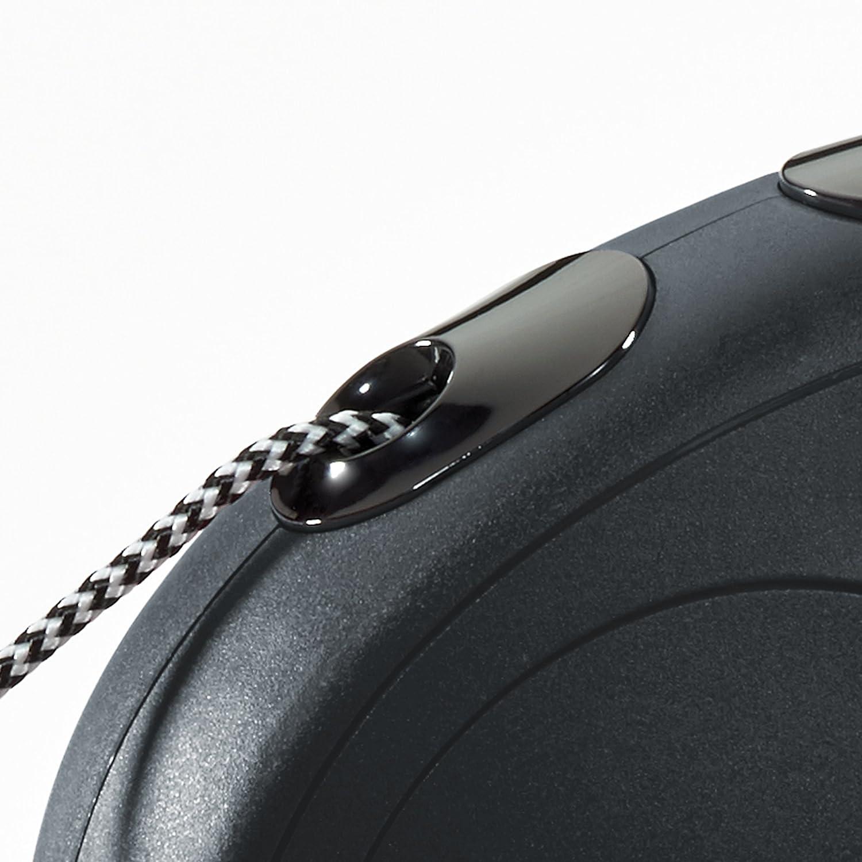 FLEXI New Classic Cord Black Retractable Dog Leash