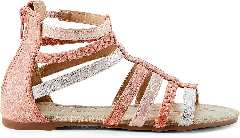 EVANNA Girls Kids Pink Dressy Sandals