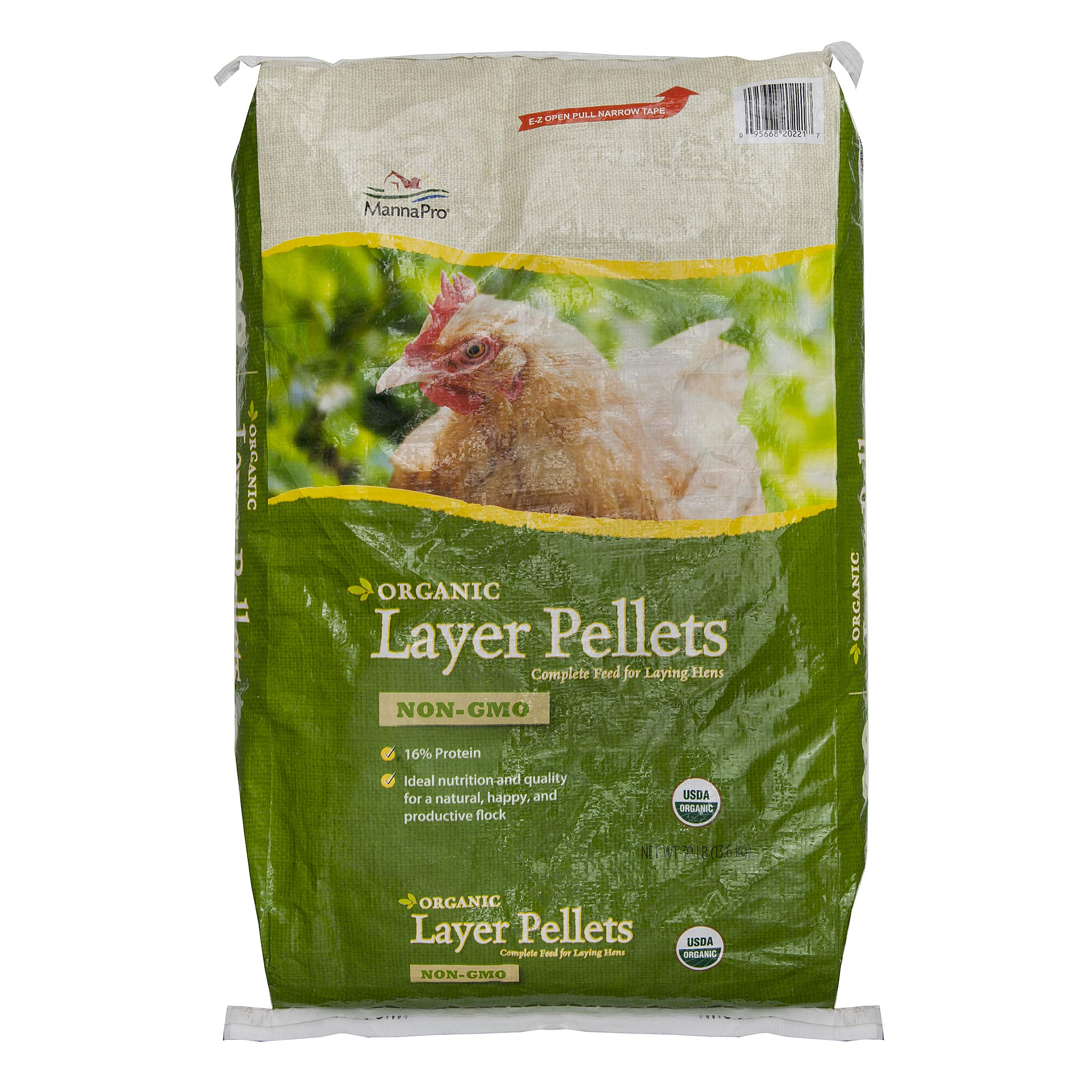 Manna Pro Layer Pellets for Chickens|Non-GMO & Organic Feed for Laying Hens|30 Pounds by Manna Pro