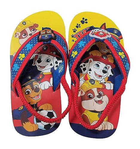 483c7776782f5 Amazon.com   Paw Patrol Boys Flip-Flops Sandals with Chase Marshall ...