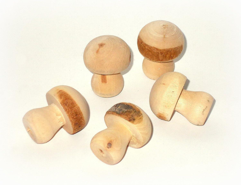 Streudeko /'Pilz/' aus Holz 3 cm 12er-Set