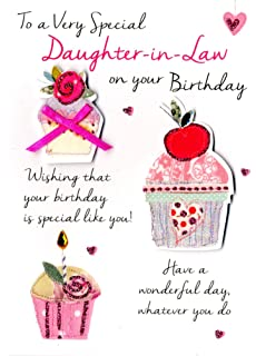 Standard Size Daughter In Law Birthday Cards