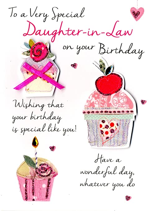 Special Daughter In Law Birthday Greeting Card Second Nature Just To Say Cards